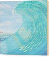 Lighthouse Curl Wood Print