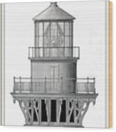 Lighthouse Detail Wood Print