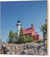 Lighthouse Eagle Harbor Lake Superior -6533 Wood Print