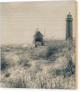 Lighthouse Fade Wood Print