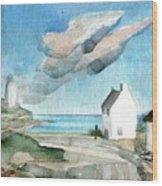 Lighthouse Harbour 3 Wood Print