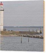 Lighthouse Hellevoetsluis Wood Print