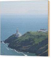 Lighthouse Howth Wood Print