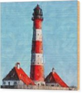 Lighthouse - Id 16217-152045-8706 Wood Print