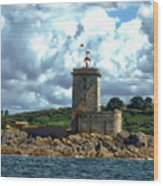 Lighthouse Ile Noire Wood Print