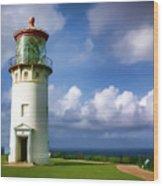Lighthouse Impression Wood Print