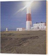 Lighthouse In Portland Bill Wood Print
