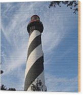Lighthouse In St. Augustine Wood Print by Kimberly Camacho