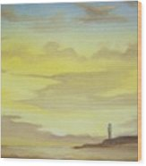Lighthouse In The Distance Wood Print