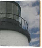 Lighthouse In The Sky Wood Print