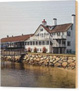 Lighthouse Inn At Bass River Wood Print