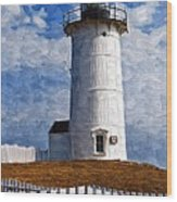Lighthouse Keepers Dwelling Wood Print