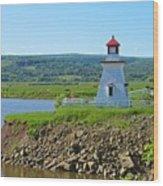 Lighthouse Landscape Wood Print