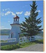 Lighthouse Landscape Four Wood Print