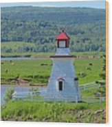 Lighthouse Landscape Three Wood Print