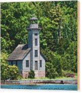 Lighthouse Munising Bay Wood Print