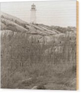 Lighthouse Nova Scotia Wood Print