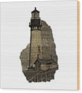Lighthouse Of Old Wood Print