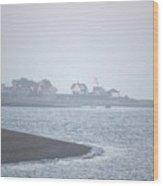 Lighthouse On Lordship Beach Wood Print