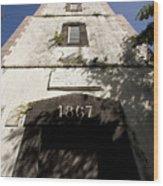 Lighthouse On Point Venus Wood Print