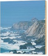 Lighthouse On The California Coast Wood Print