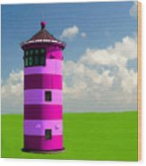 Lighthouse On The Island Wood Print