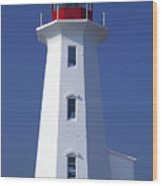 Lighthouse Peggy's Cove Wood Print