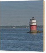 Lighthouse Plymouth Wood Print