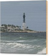 Lighthouse Point Fl. Wood Print