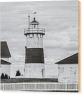 Lighthouse Point In Black And White #5 Wood Print