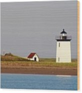 Lighthouse Provincetown 3 Wood Print