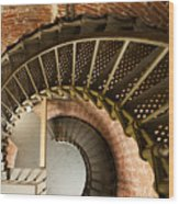Lighthouse Stairs Cape Blanco Oregon 2 Wood Print