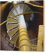 Lighthouse Stairway Wood Print