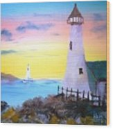 Lighthouse Study Wood Print