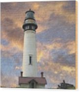 Lighthouse Visitors Wood Print