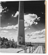 Lighthouse Walk Long Beach Island Wood Print