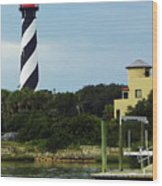 Lighthouse Water View Wood Print