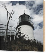 Lighthouse With Twist Wood Print