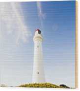 Lighthouses In Victoria Wood Print