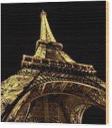 Lighting The World Of Paris Wood Print
