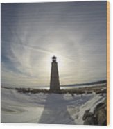Lighting Your Winter Halo Wood Print