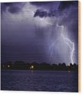 Lightning Bolt Energy Color Wood Print