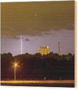 Lightning Bolts Striking In Loveland Colorado Wood Print
