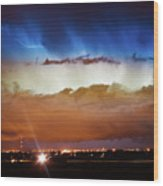 Lightning Cloud Burst Boulder County Colorado Im34 Wood Print