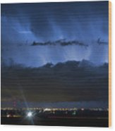 Lightning Cloud Burst Wood Print