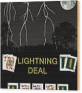 Lightning Deal  Poker Cards Wood Print