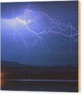Lightning From Heaven Wood Print