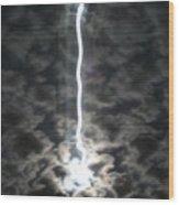 Lightning Moon Wood Print