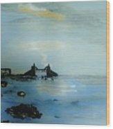 Lightning Over Lake Erie Wood Print by Marie Bulger