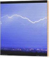 Lightning Over North Boulder Colorado  Poster Lm Wood Print